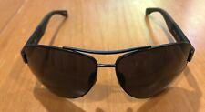 New! Hugo Boss Wrap Metal Black Aviator Large Frame 65mm Sunglasses BOSS 0915/S