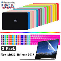2018 For Macbook Air 13 Inch Matte Hard Case & Keyboard & Screen Protector A1932