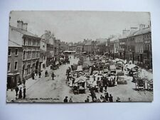 Early Printed Postcard Barnard Castle Market Place 1921