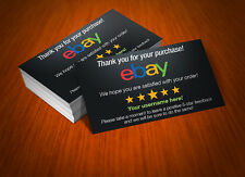 1000 Custom Printed Full Color eBay Seller ID Thank You Cards w/Your USER ID!