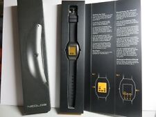Neolog A-24 II Watch, Orange Face and Silicon Strap. Exc. Condition. See Photos!