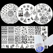 6Pcs/Set BORN PRETTY Nail Stamping Plates Christmas Tree Snowflake Bell Template