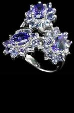 Tanzanite Cocktail Oval Sterling Silver Fine Gemstone Rings