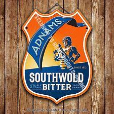 Adnams Southwold Bitter Beer Advertising Pub Metal Pump Badge Shield Steel Sign