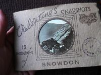 12 MINI REAL PHOTOGRAPHS BOOKLET COLOUR VALENTINE'S SNAPSHOTS SNOWDON