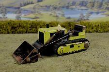 R&l Diecast: playworn/sin Caja Tonka Bulldozer Pala, Verde