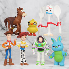 7 PCS Toy Story Woody Bulleye Buzz Lightyear Action Figure Kids Toys Cake Topper