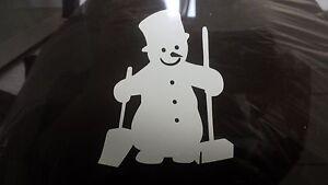 Snowman Car/Bike/Window/Wall/Laptop Vinyl Sticker christmas decoration xmas snow