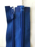 YKK NO-5, NYLON COIL,ROYAL BLUE ZIP, OPEN ENDED 36 INCHES / 91 CM LONG
