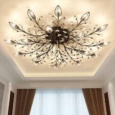 D35inch LED K9 Crystal Ceiling Light Fixture Chandelier Bedroom Ceilling Lamp