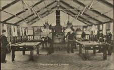 London UK Soldiers Lounge The Eagle Hut Billiards Room WWI c1915 Postcard
