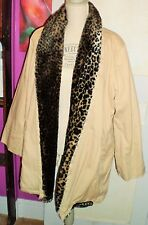 BLANCO manteau beige en 100% coton fausse fourrure taille L 40 42 comme neuf