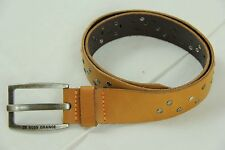 BNWT Hugo Boss Jack-X Tan Cow Skin Leather Belt sz 38 Italy 100% Authentic $155