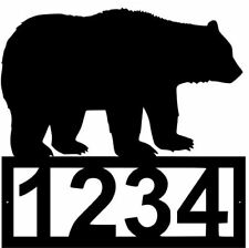 House Number Plaque, Metal Sign, Cabin, Address Sign, Bear #1 FREE SHIPPING