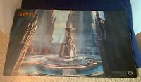 MTG Hallowed Fountain Playmat Magic The Gathering Return To Ravnica Used