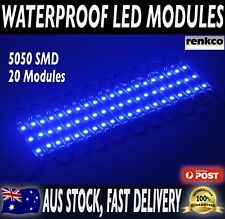 20x 12V Waterproof LED Strip Module Lights Blue For Car Boat Caravan Camping