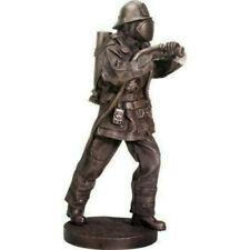 "12"" Fire Fighter with Hose Statue Fireman Sculpture Emergency Responder"