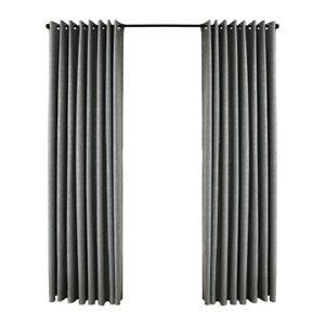 A1ST Silver Blackout Geometric Pattern Curtains for Kids Room Window Voile Tulle