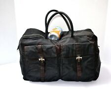 8d100be9fa43 Prada Vintage Authentic Travel Gym Bag Luggage Keepall Large Duffle Bag  Black