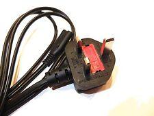 Playstation 1 2 PS2 Xbox Power Cable Lead Nuevo 3 Pin Reino Unido