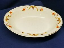 Vintage Hall Superior Jewel Tea Autumn Leaf Oval Serving Bowl A Collector's Must