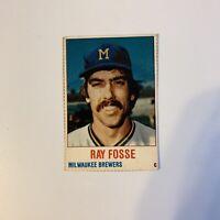 1978 Hostess Ray Fosse # 57 Milwaukee Brewers MLB Baseball Card Hand Cut