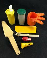 Lot of Tupperware Gadgets & Measuring Cups Spatula Pie Server Mustard Juicer +