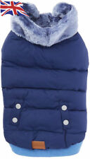 CROCI PADDED WINTER DOG COAT, blue, 30 cm BACK SMALL DOGS TOP QUALITY