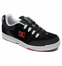 Tg 42 - Scarpe Uomo Skate DC Shoes Syntax Black Grey Red Sneakers Schuhe 2019