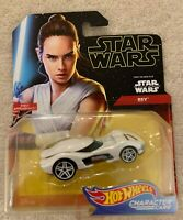 NIP STAR WARS HOT WHEELS CHARACTER CAR REY FROM THE RISE OF SKYWALKER AGES 3+