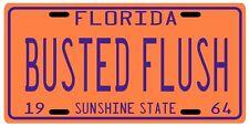 John D. MacDonald Travis Mcgee BUSTED FLUSH 1964 FL License plate