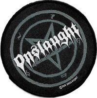 Official Licensed Merch Woven Sew-on PATCH Heavy Metal Rock ONSLAUGHT Pentagram