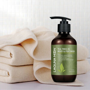 Natural Tea Tree Oil Body Wash Helps Athletes Foot Acne  Body odor 300ML