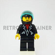 LEGO Minifigures - 1x tel002 - Man - Leather Jacket Town Omino Minifig Set 1197