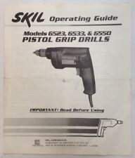 Skill Operating Guide Pistol Grip Drills Models 6523 6533 6550 PreownedBook.com