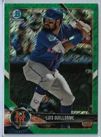 2018 Bowman Chrome Green Shimmer Parallel Luis Guillorme 54/99 New York Mets