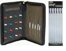 King Carp Fishing Hard Rig Case for hair Rigs Etc with Tools Pins & 6 Hair Rigs