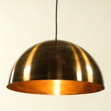 Pendel Lampe Messing Halbschale Hänge Leuchte Dansk Brass Pendant 60-70's #4/4