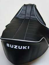 Motorcycle seat cover - Suzuki RV90 & RV125 Sandbike (white piping)