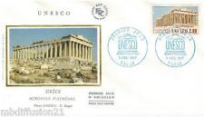 1987 - ENVELOPPE SOIE - FDC 1°JOUR** UNESCO - ACROPOLE GRECE - TIMBRE Yv.98