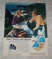 1974 ad page - Belair cigarettes CUTE Girl Guy smoking  tobacco binoculars AD