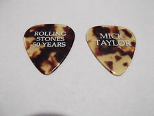 Rolling Stones 2013 Printed MIck Taylor 50 Years Guitar Pick Tortoise / White