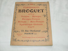 catalogue : etablissement broquet paris ( pompes maneges ) 1909