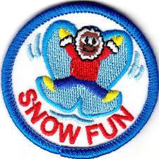 """SNOW FUN"" Iron On Patch Sport, Winter Fun Snowflakes"