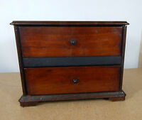 Vintage miniature Chest of drawers desktop storage made from old Radio 29x20x22c