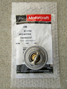 FORD LINCOLN YF1Z-8575-BA MOTORCRAFT RT-1152 ENGINE COOLANT THERMOSTAT OEM NEW