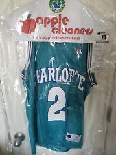 LARRY JOHNSON CHARLOTTE HORNETS VINTAGE 90s CHAMPION NBA BASKETBALL JERSEY SZ 40
