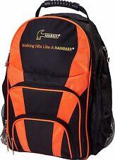 Hammer Bowling Ball Company Back Pack Color Black Orange