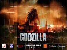 GODZILLA Affiche Cinéma / Movie Poster Aaron Taylor-Johnson Bryan Cranston