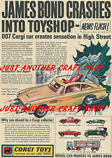 Corgi Toys 261 James Bond DB5 Aston Martin Original 1965 Poster Leaflet Advert